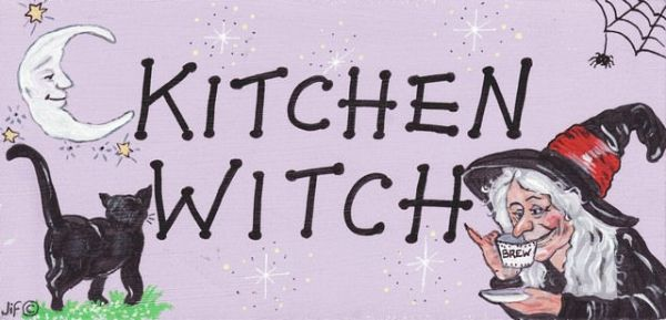 Kitchen Witch Wall Hanging Sign